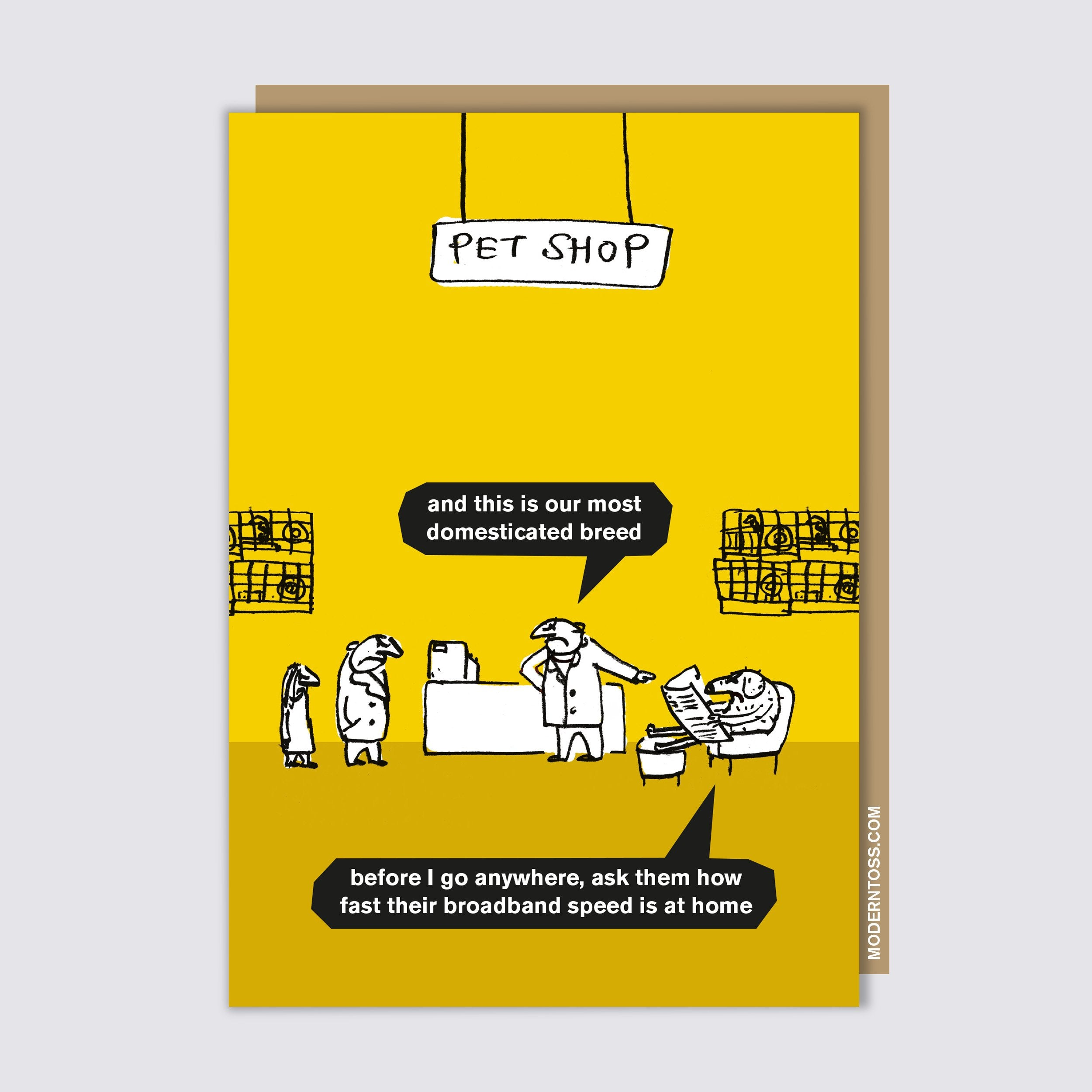 Dogs Pet Shop Card