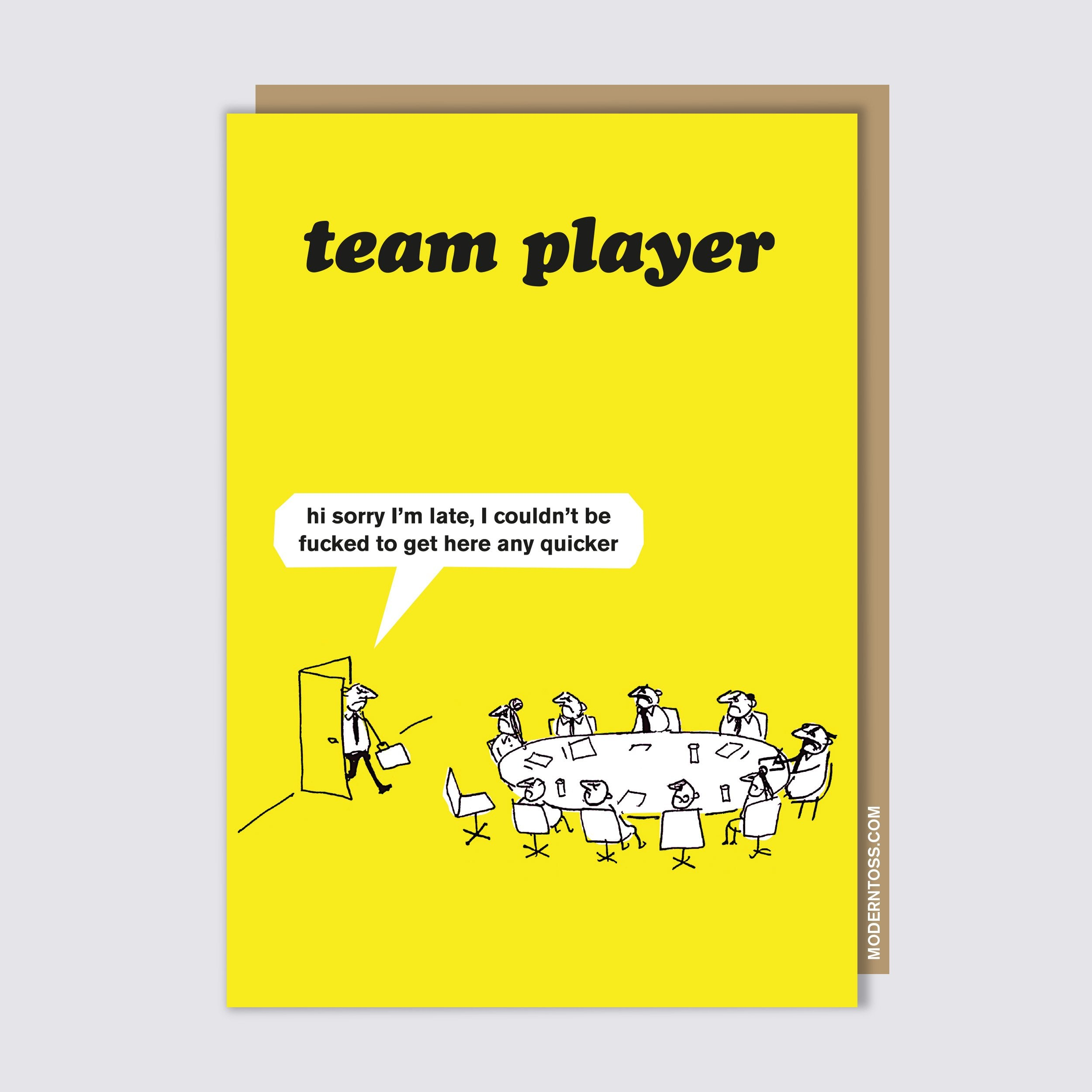 Work Team Player Card