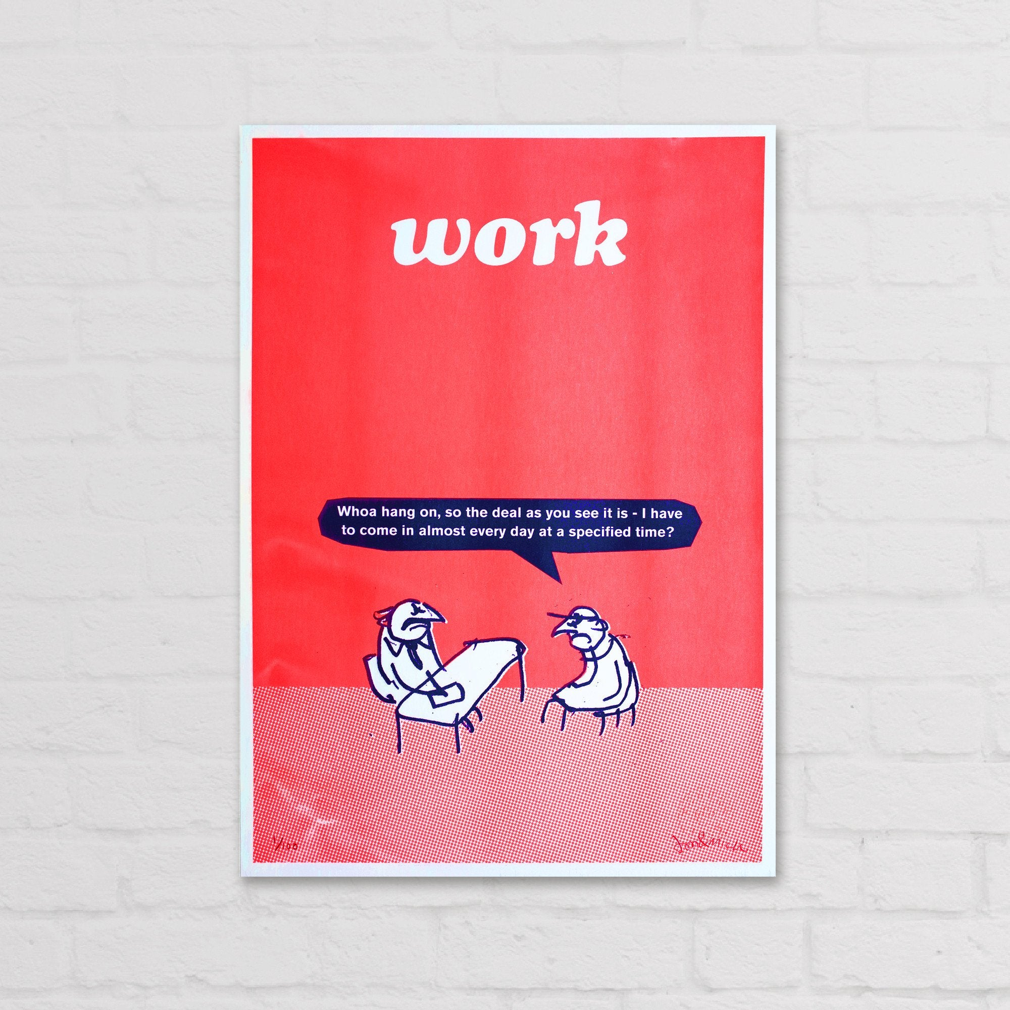 Work Specified Time Riso Print