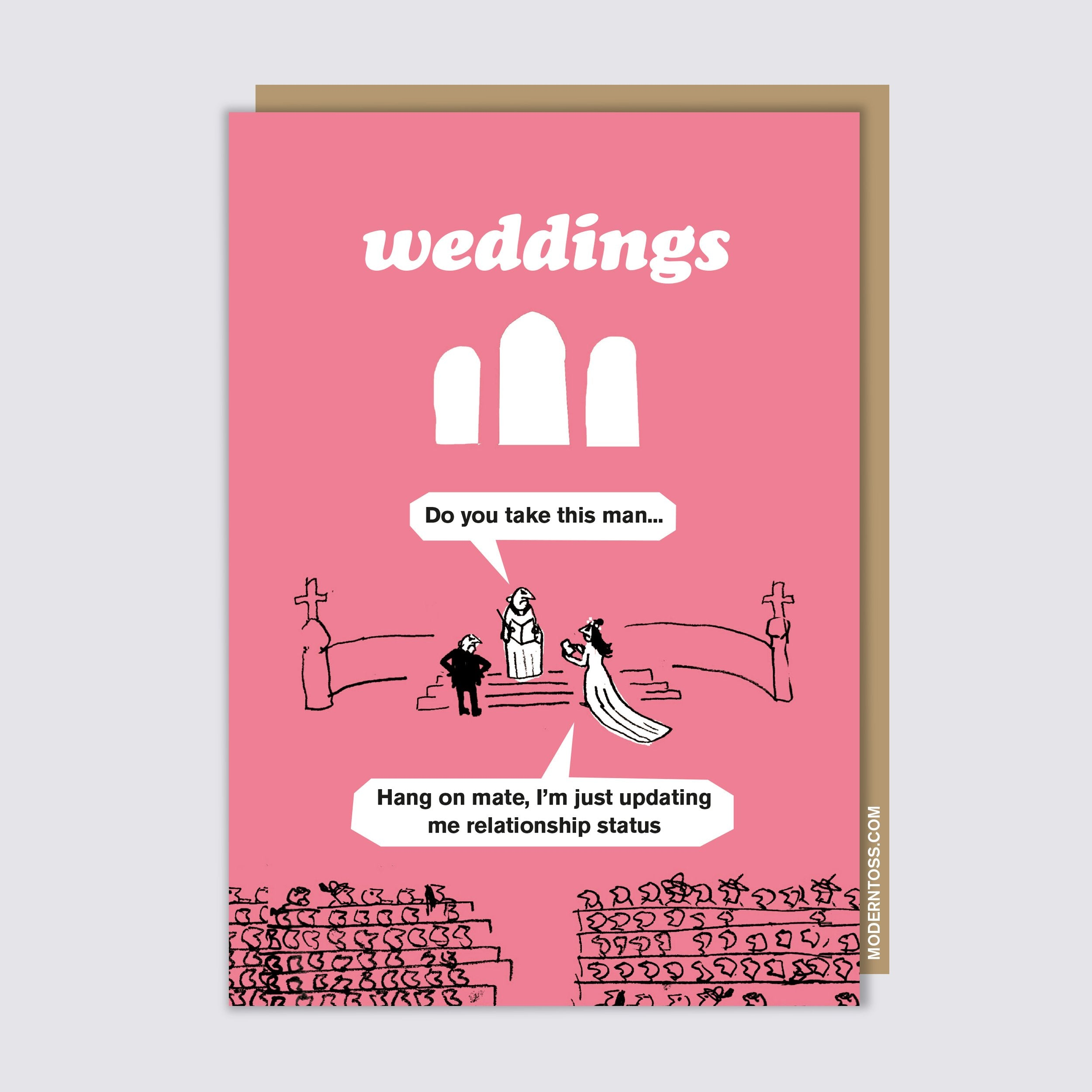 Wedding Facebook Status Card