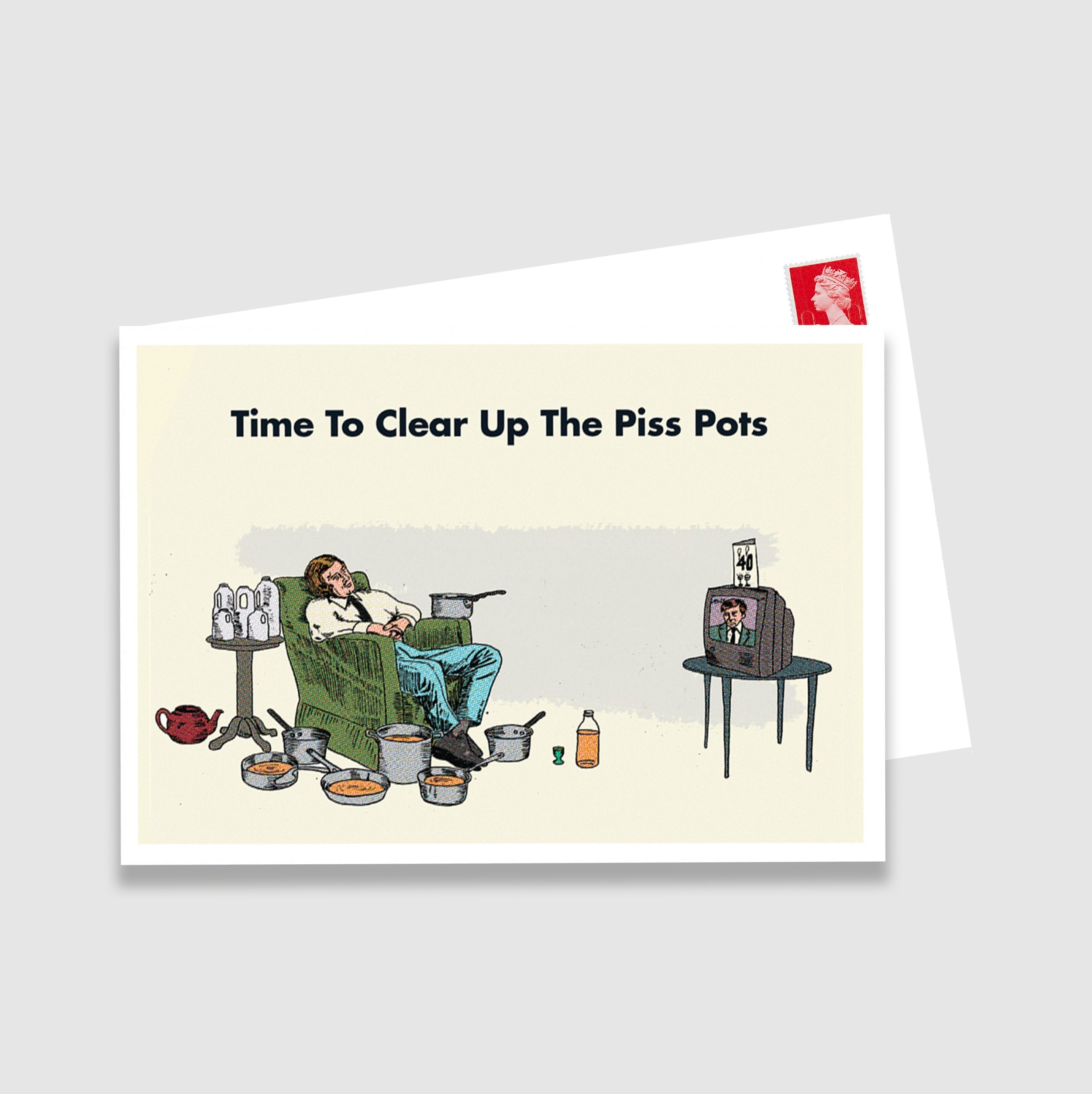 Clear Up The Pisspots Postcard