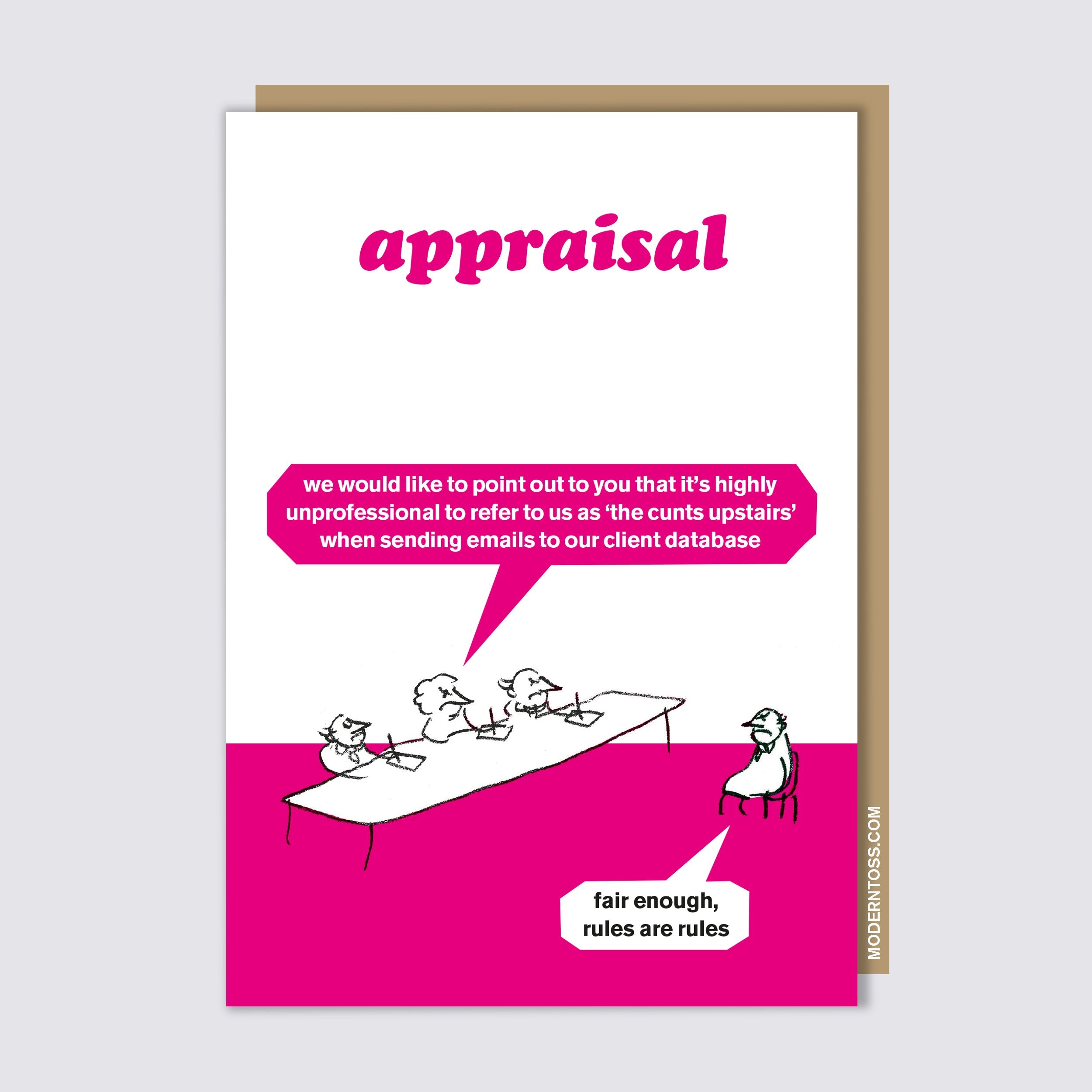 Appraisal Cunts Upstairs Card