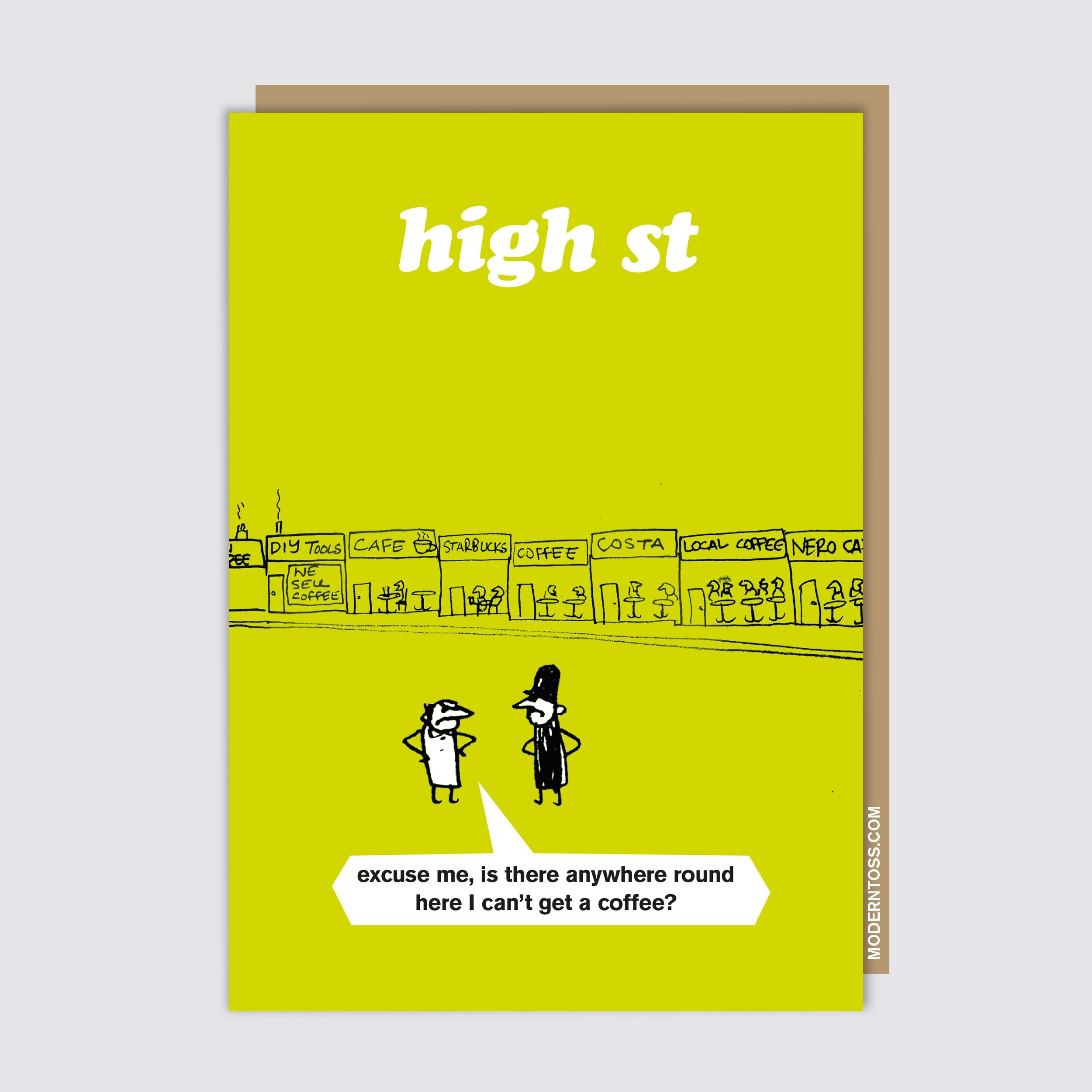 High Street Coffee Card
