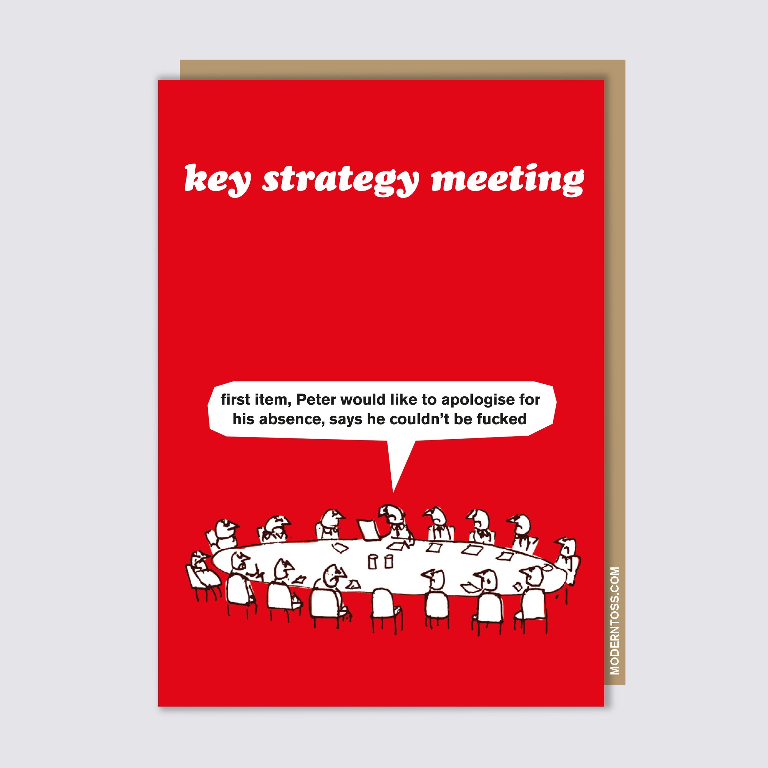 Key Strategy Meeting Card