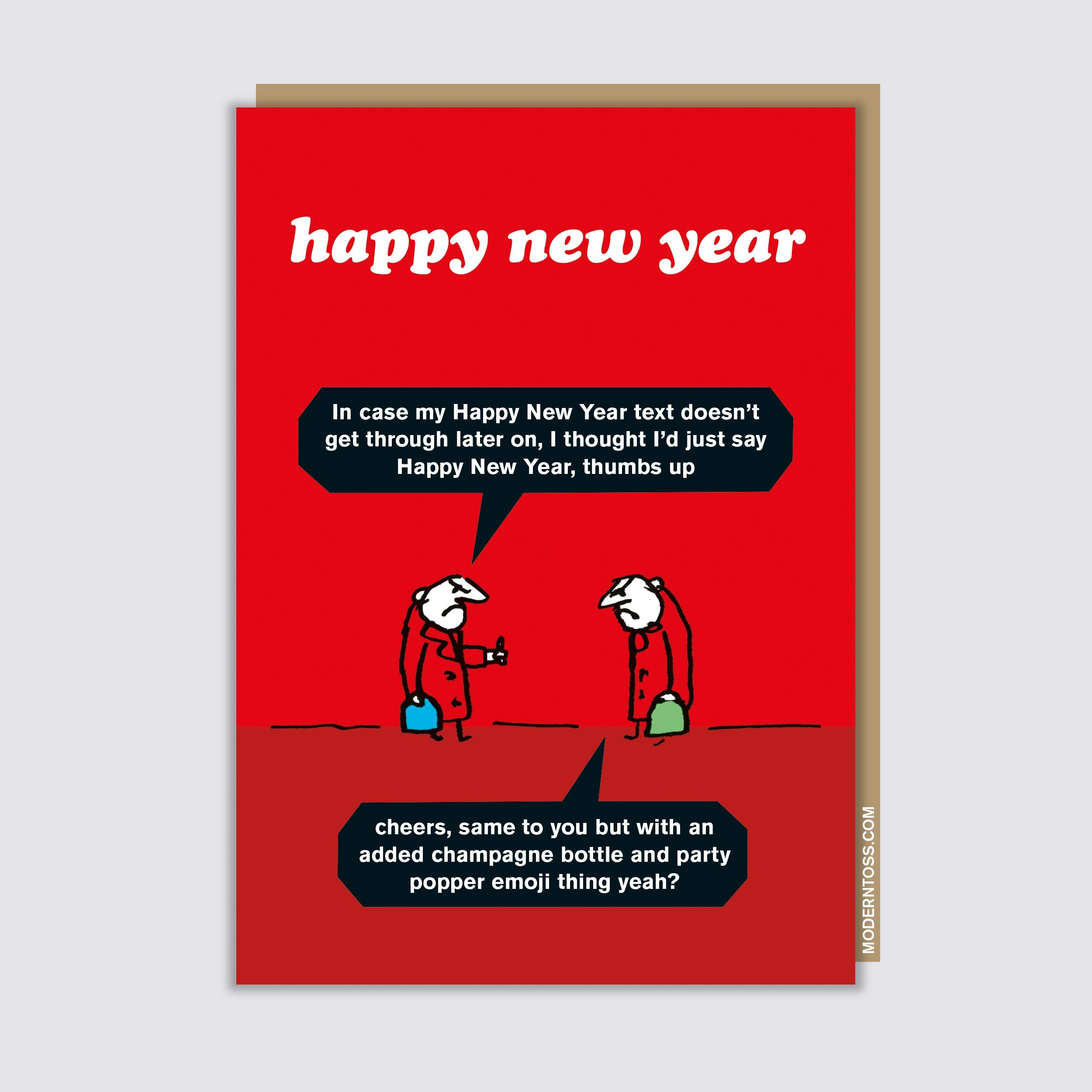 New Year Emoji Card