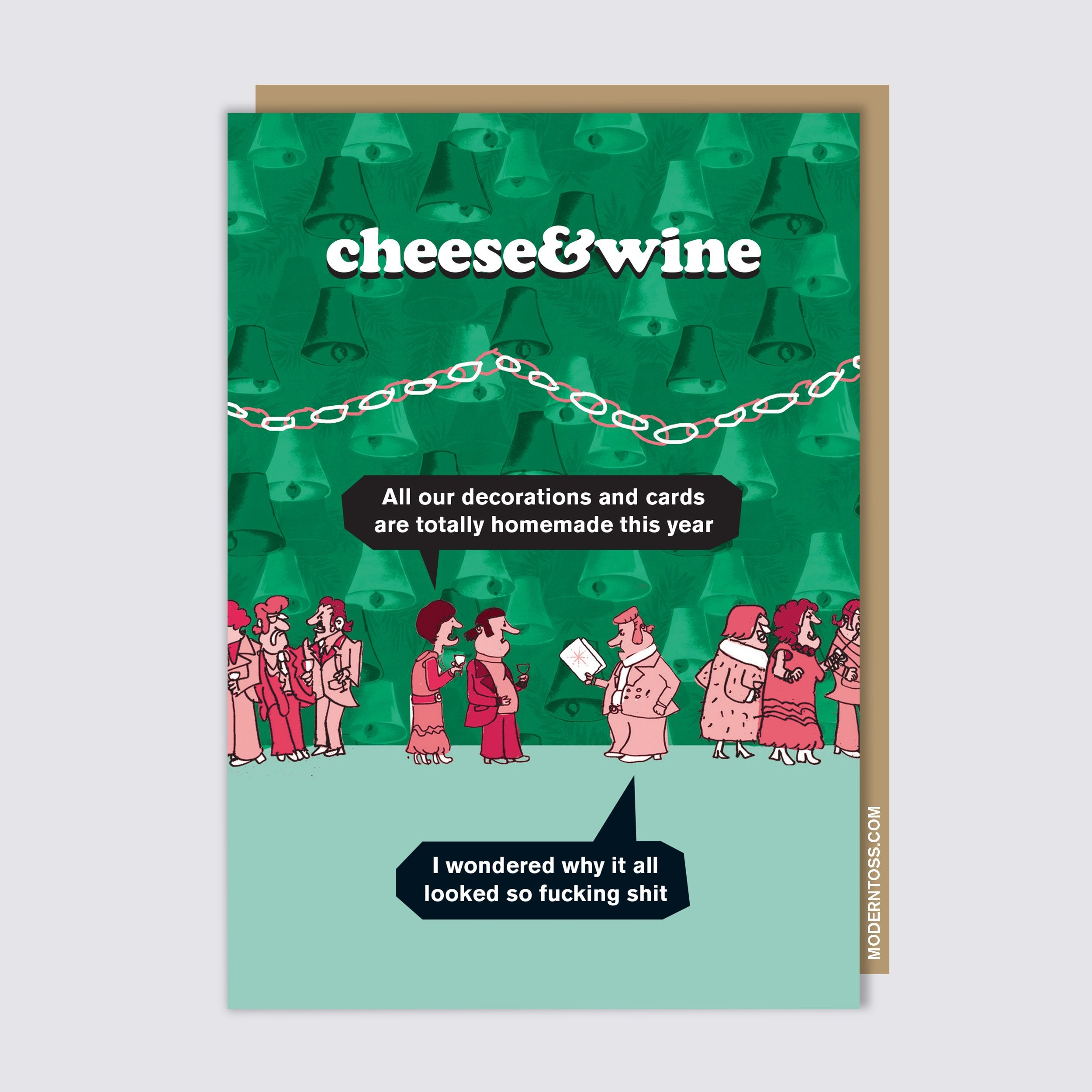 Cheese & Wine Decorations Card