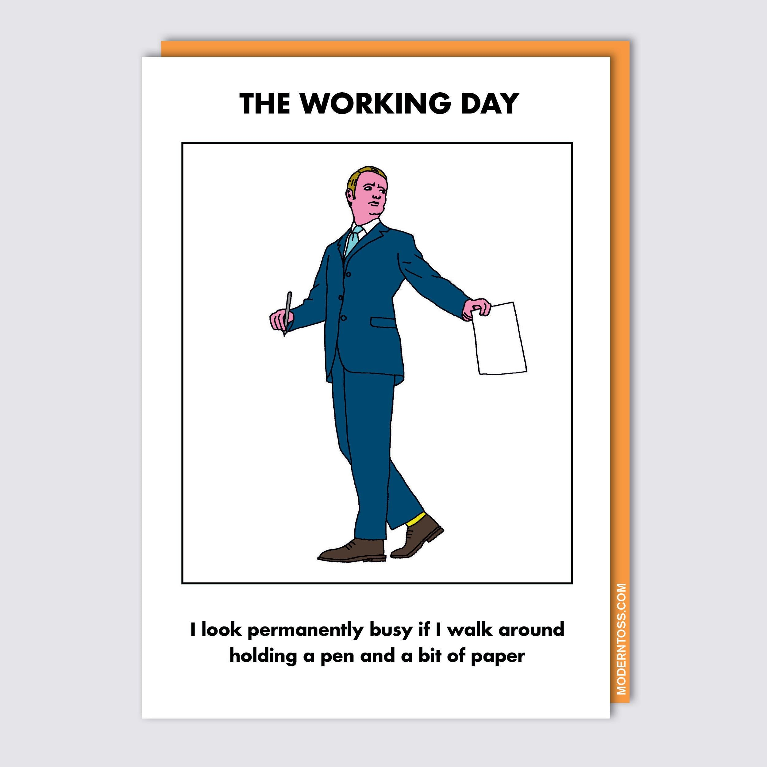 Working Day Walk Around Card
