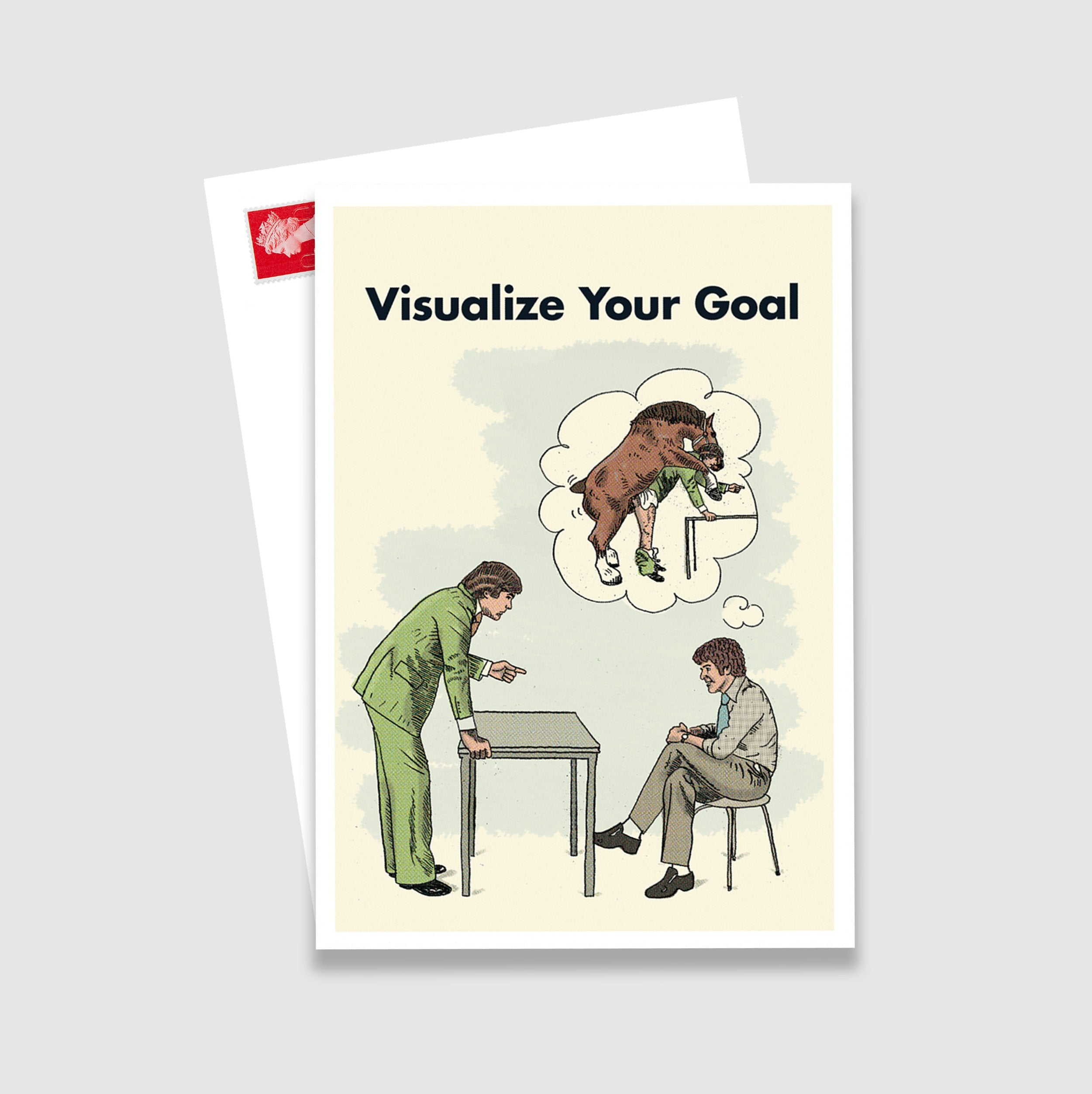 Visualize Your Goal Postcard