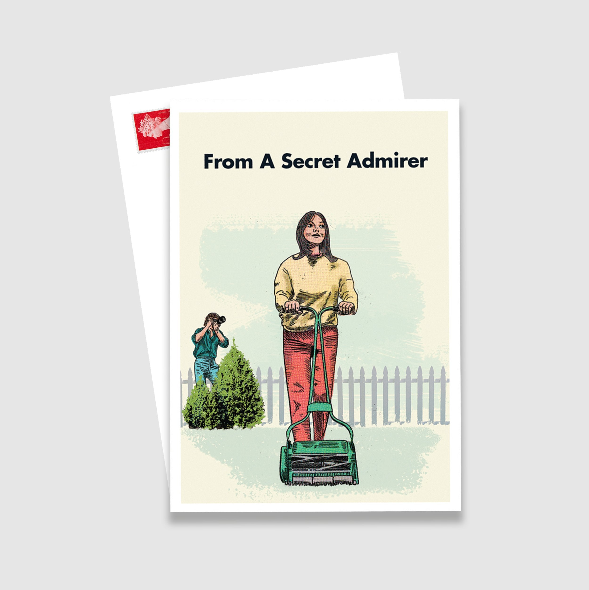 Lawnmower Secret Admirer Postcard