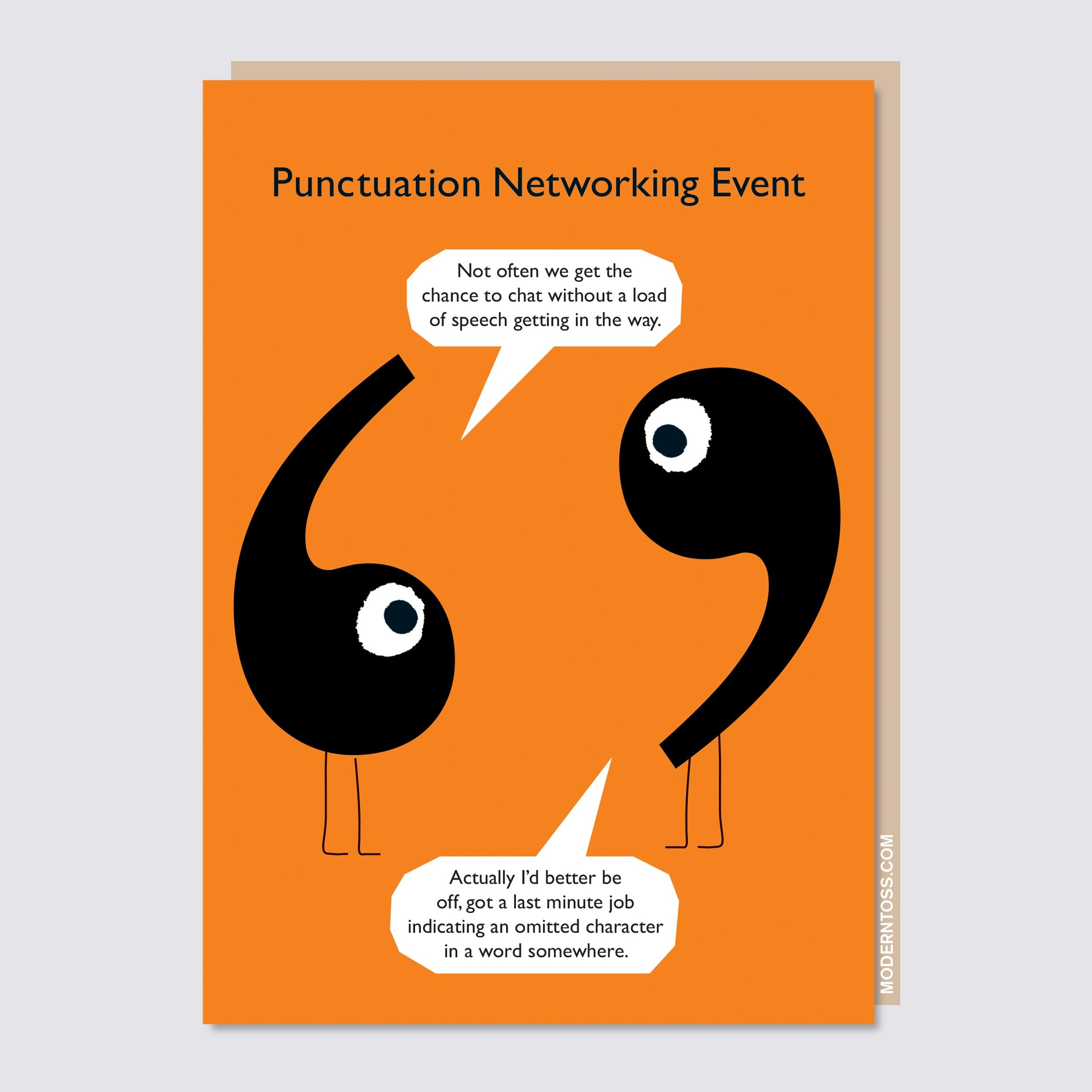Punctuation Speech Marks Card