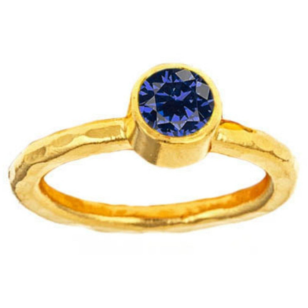 Gold-dipped gemstone rings. 17 gemstones to choose from.