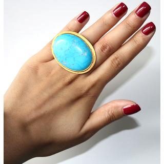 PAOLA: Turquoise Statement/Cocktail Ring