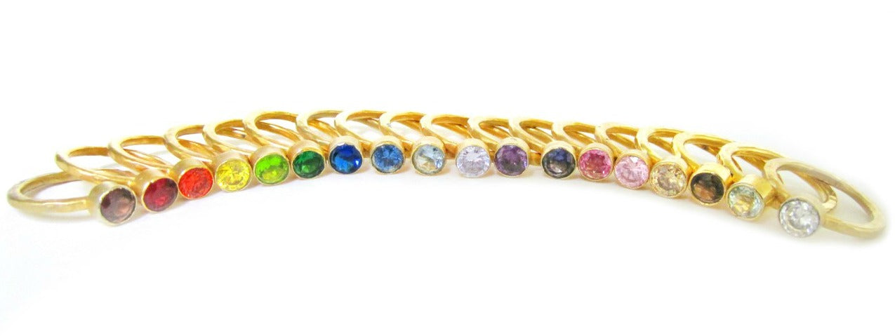 FIFI:  Gemstone Stacking Rings