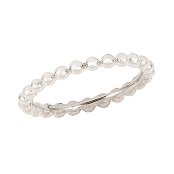 silver bead stacking ring