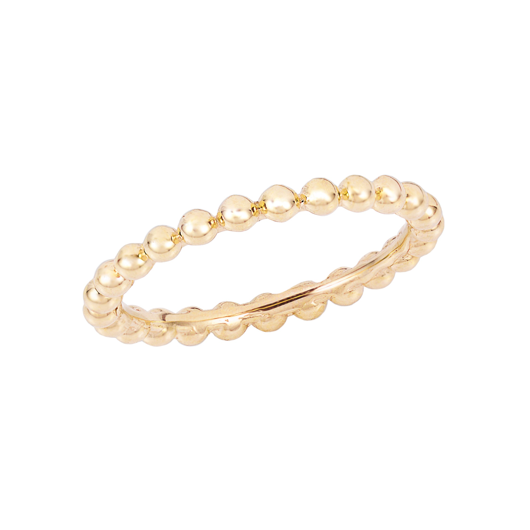 gold-dipped bead stacking ring