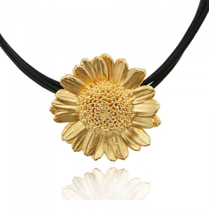 ROXY(2): GOLD SUNFLOWER PENDANT