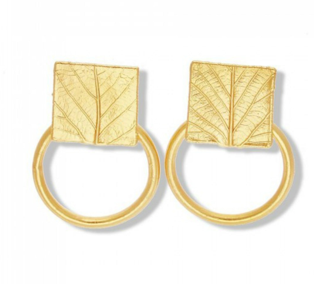HONORE: Gold Statement Hoop Earrings