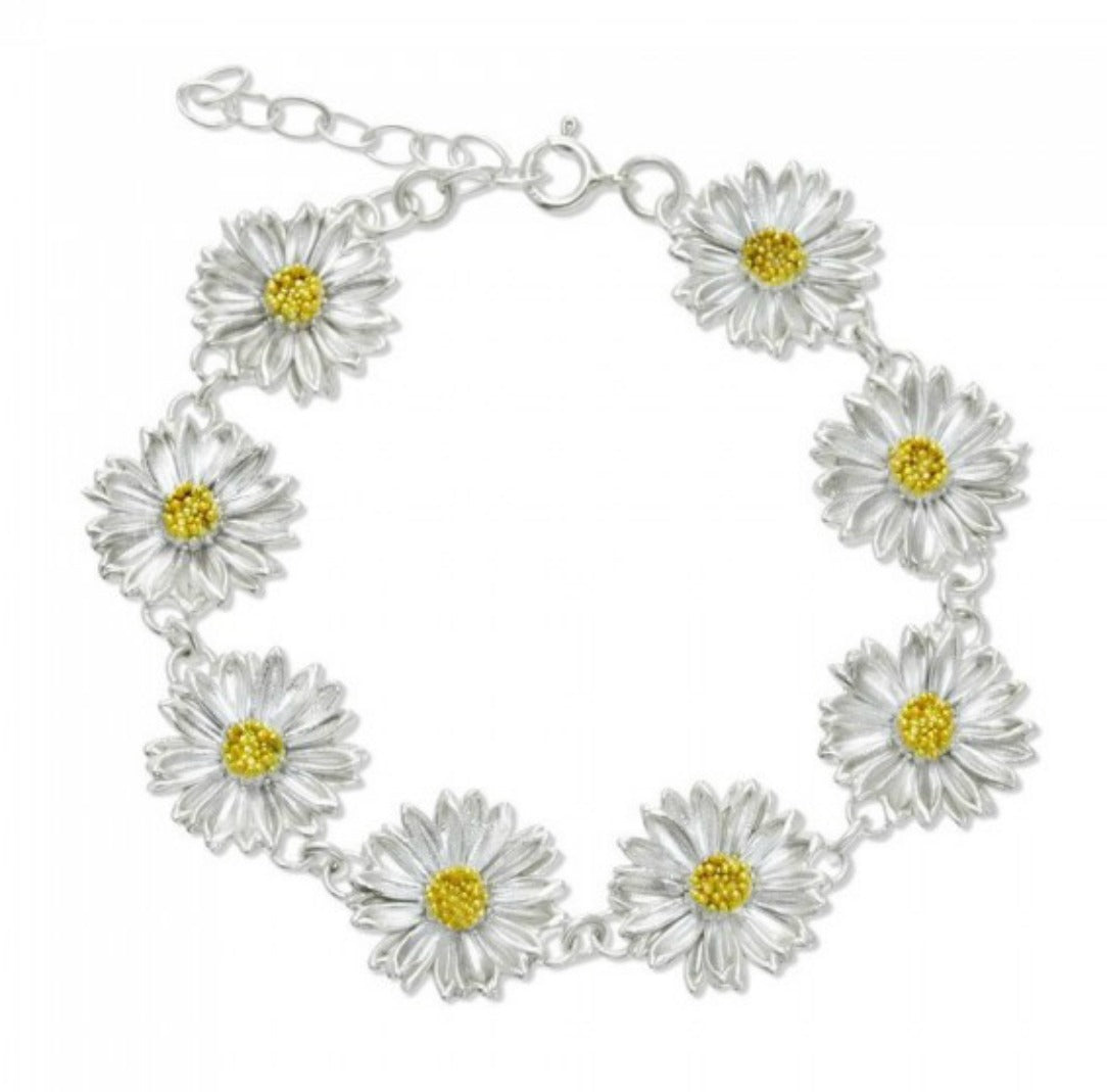 DELILAH: SILVER AND GOLD DAISY BRACELET