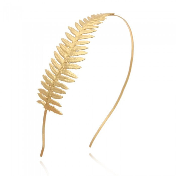 VALENTINA: Gold Fern-Inspired Hair Band