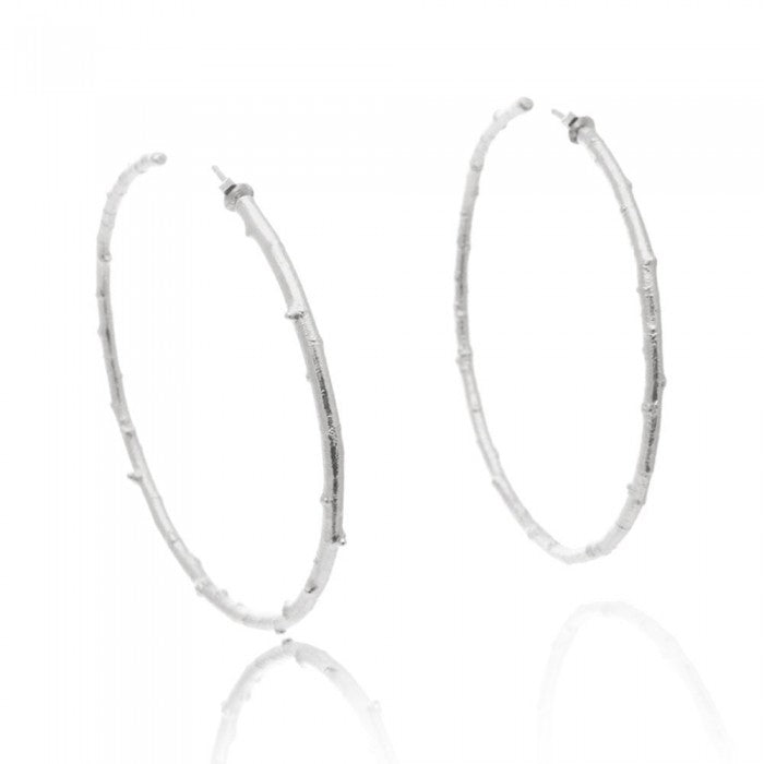 PASQUELINA (2): Silver Statement Hoop Earrings