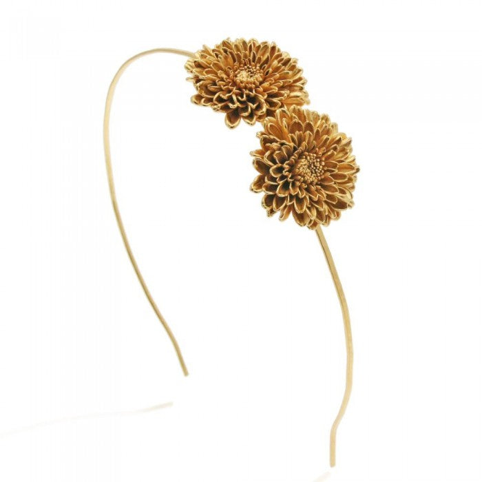 Floral/Chrysanthemum Inspired Gold Head Band