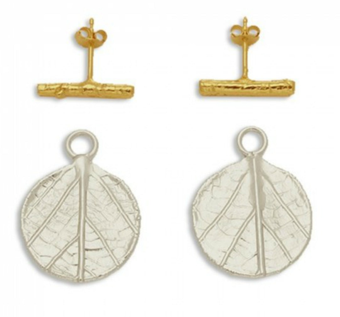ZARA (3): SILVER + GOLD  AMARYLLIS EARRINGS