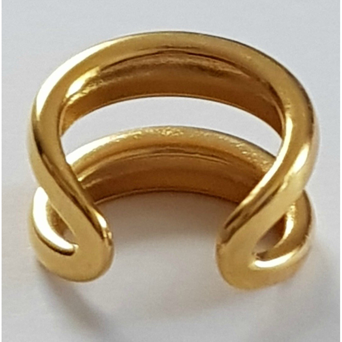 BELLA: Double Band, Gold Statement, Ring