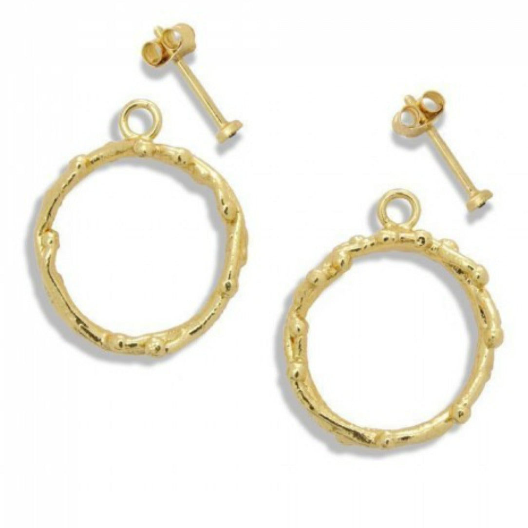 ELOISE: Mimosa-Inspired Hoops With A Swarovski Crystal