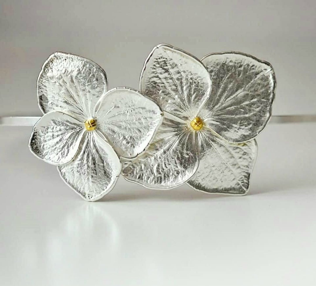 DEE-DEE (2): Silver Floral Head Band