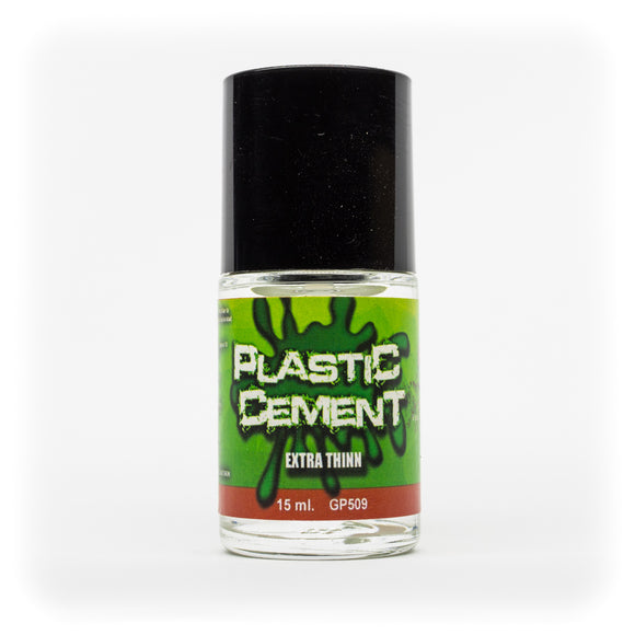 Plastic Cement Extra Thinn w/Brush 15ml - GP509