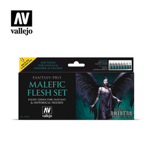 Fantasy Pro Malefic Flesh Vallejo Paint Set - 74.102