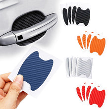 Load image into Gallery viewer, 4Pcs/Set Car Door Sticker Carbon Fiber Scratches Resistant Cover Auto Handle Protection Film Exterior Styling Accessories