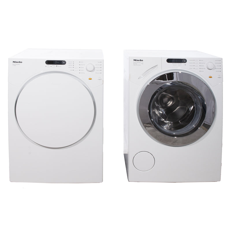 Miele 23.5'' Washer Front Load Laveuses à chargement frontal W1753 and T7634 blanc