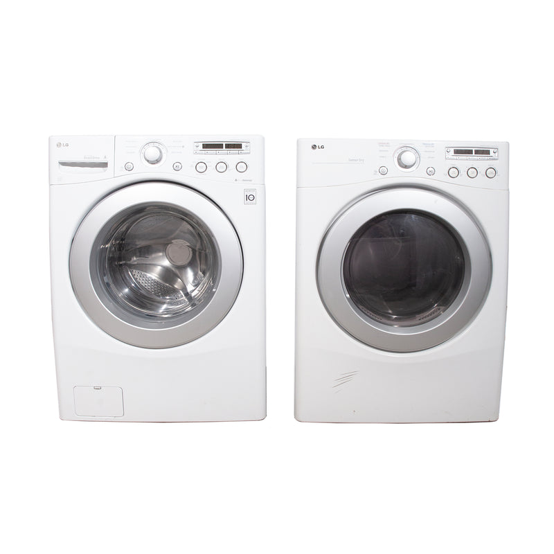 LG 27'' Stackable Laundry Pair Duos laveuse-sécheuse superposable WM2250CW and DLE2250W Blanc