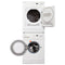 Samsung 23.5'' Stackable Laundry Pair Duos laveuse-sécheuse superposable DV665JW/XAC and WF-J1254/XAC Blanc (1)