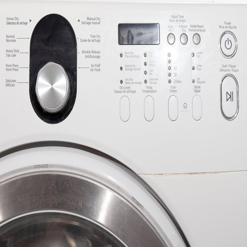 Samsung 27'' Stackable Laundry Pair Duos laveuse-sécheuse superposable WF218ANW/XAC and DV218AEW/XAC Blanc (3)