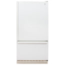 GE 30'' Bottom Freezer TCC18ZABBWW Blanc