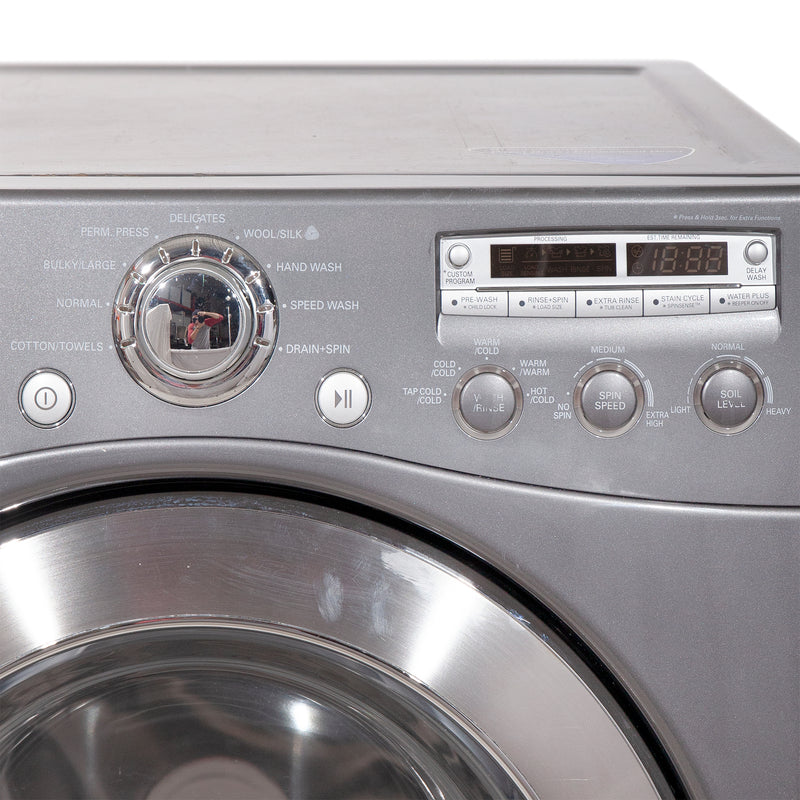 LG 27'' Stackable Laundry Pair Duos laveuse-sécheuse superposable WM2355CG and DLE5955G Gris (1)