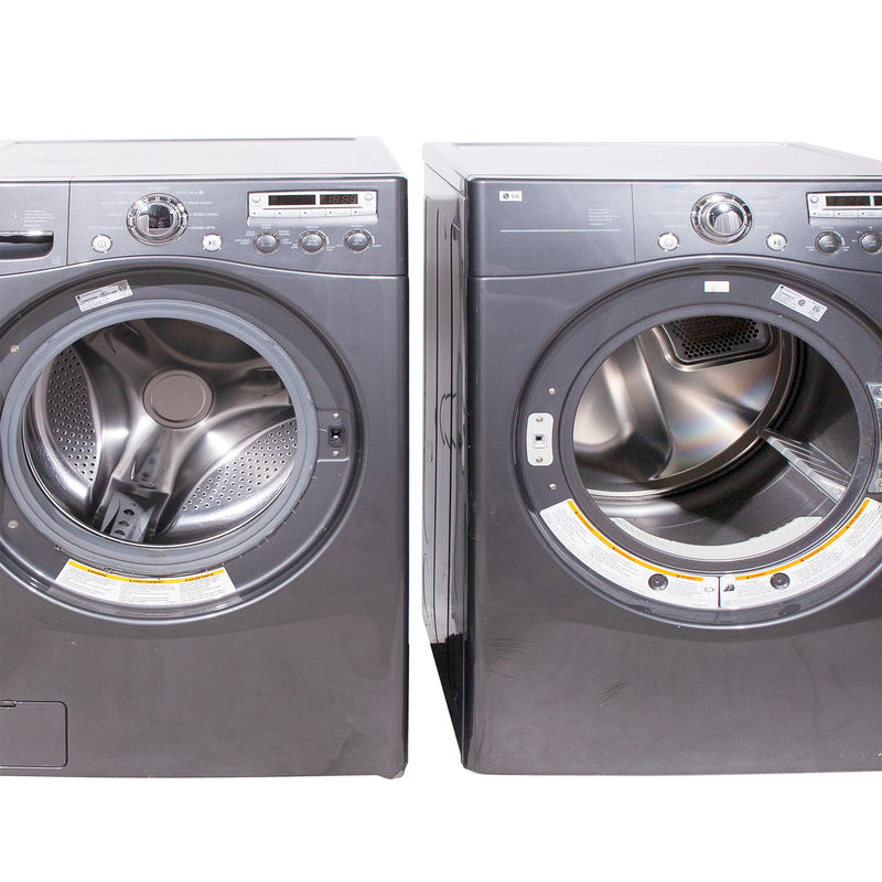 LG 27'' Stackable Laundry Pair Duos laveuse-sécheuse superposable WM2355CG and DLE5955G Gris (3)