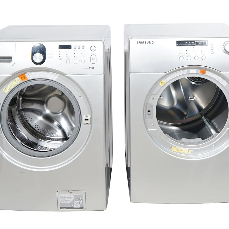 Samsung 27'' Laundry Pair Front Load Duos laveuse-sécheuse superposable WF218ANG/XAC01 and DV203AES/XAC Gris (1)