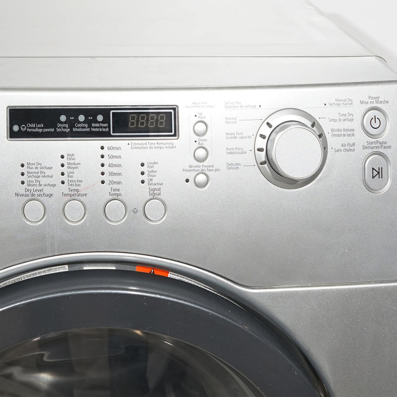Samsung 27'' Laundry Pair Front Load Duos laveuse-sécheuse superposable WF218ANG/XAC01 and DV203AES/XAC Gris (2)