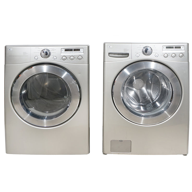 LG 27'' Stackable Laundry Pair Duos laveuse-sécheuse superposable DLE5955S and WM2350HSC Gris