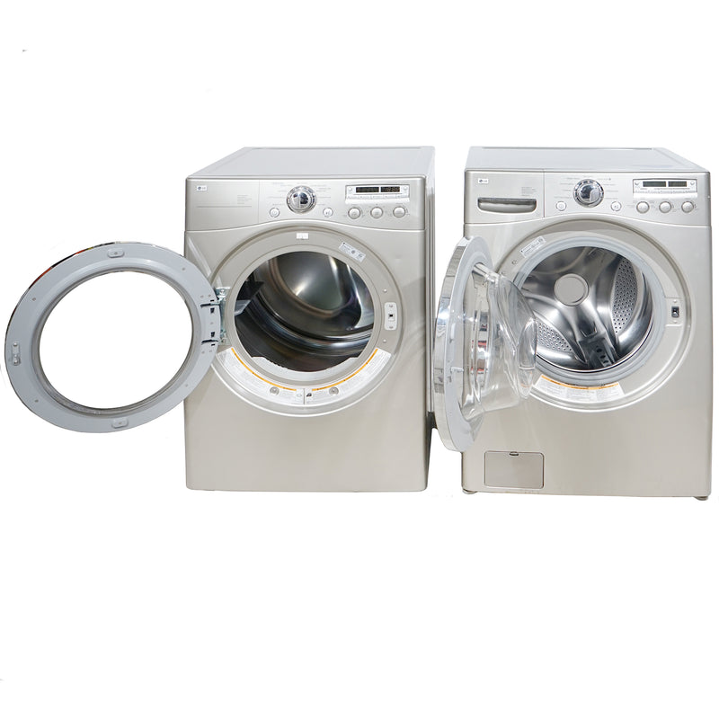 LG 27'' Stackable Laundry Pair Duos laveuse-sécheuse superposable DLE5955S and WM2350HSC Gris (1)