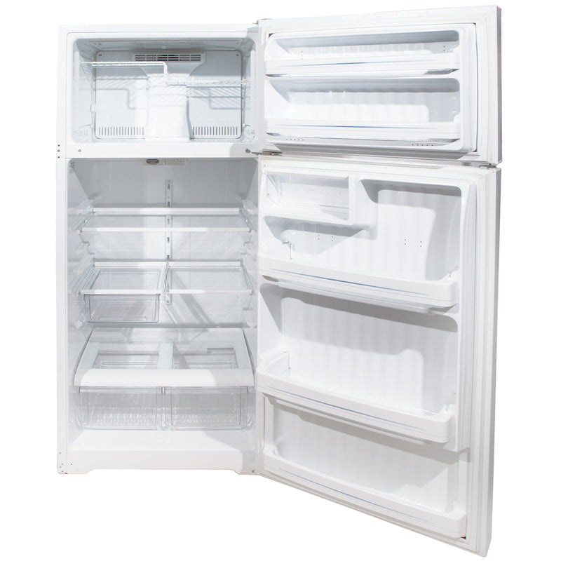 GE 27.5' Top Freezer Réfrigérateurs GTS18HBSARWW Blanc (2)