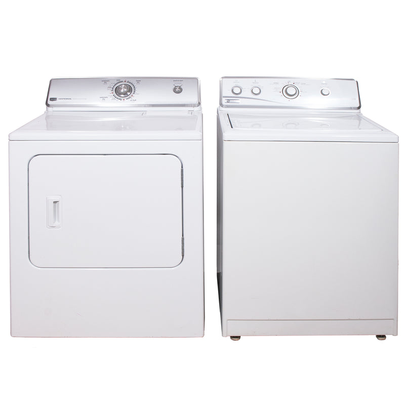 Maytag 27'' and 29'' Laundry Pair Duos de lessive MTW5740TQ0 and YMEDC200XW1 Blanc