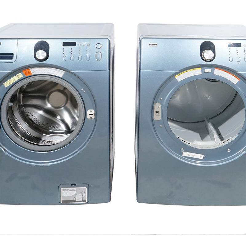 Samsung 27'' Stackable Laundry Pair Duos laveuse-sécheuse superposable DV218AEB XAC and WF218ANB XAC Gris (1)