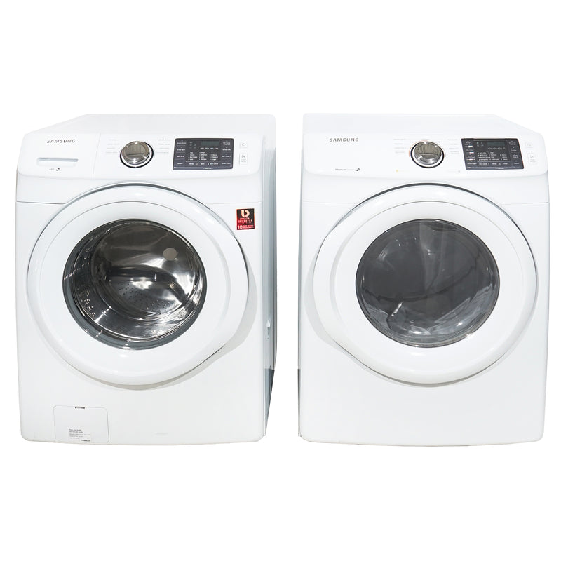 Samsung 27' Stackable Laundry Pair Duos laveuse-sécheuse superposable DV42H5000EW AC and WF42H5000AW A2 Blanc