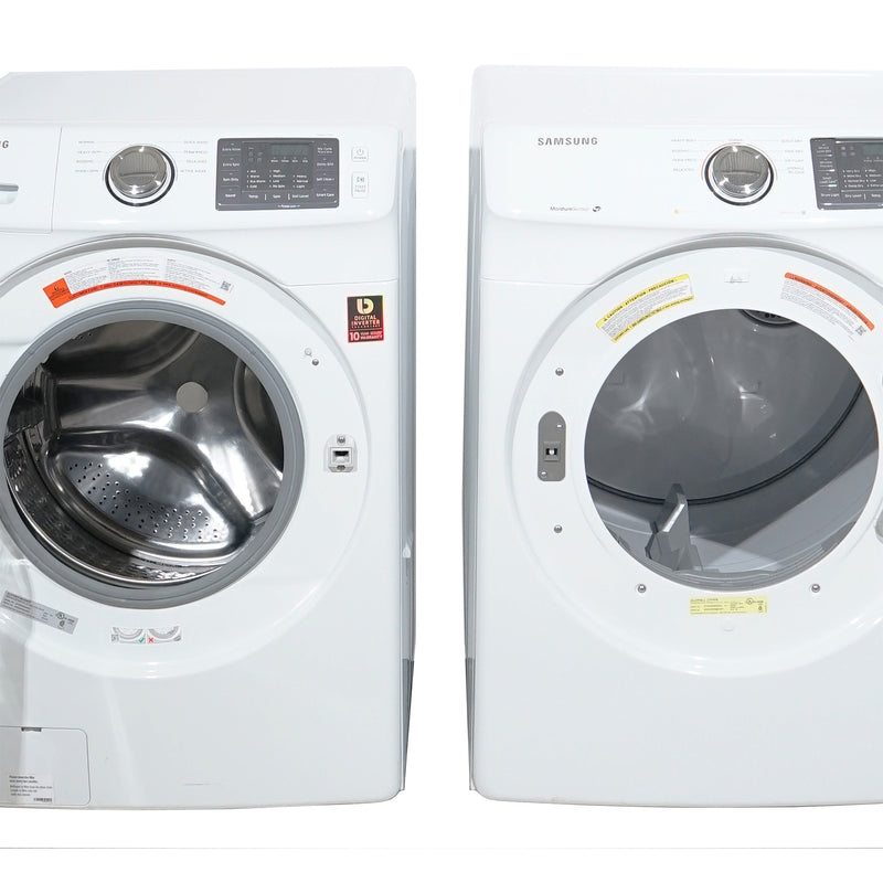 Samsung 27' Stackable Laundry Pair Duos laveuse-sécheuse superposable DV42H5000EW AC and WF42H5000AW A2 Blanc (1)