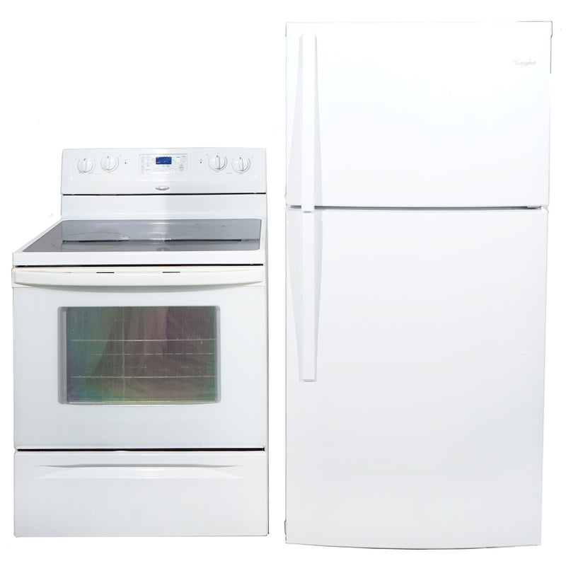 Whirlpool 30' Kitchen Sets Ensembles de cuisine WERP4101SQ1 and WRT549SZDW00 Blanc