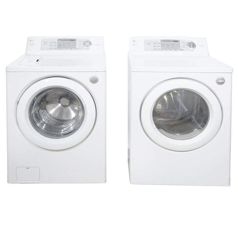 LG 27'' Front Load Duos laveuse-sécheuse superposable WM1832CW and DLE2532W Blanc
